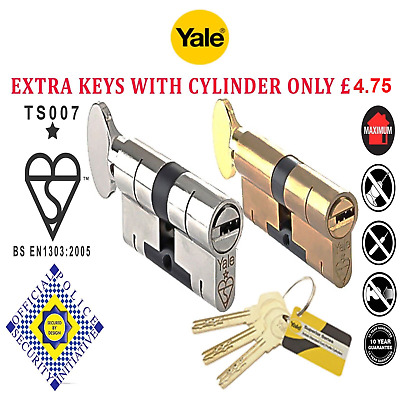 Yale Superior Thumb Turn Anti Snap Bump Pick Euro Barrel Cylinder Door Lock Upvc