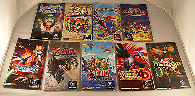 Gamecube Manual Lot Of 9 Nintendo Gamecube Instruction Booklets Zelda Mario +++