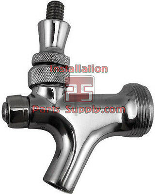 All Stainless Steel Self-Closing Lever Draft Beer Faucet Wine Tower Keg Spout