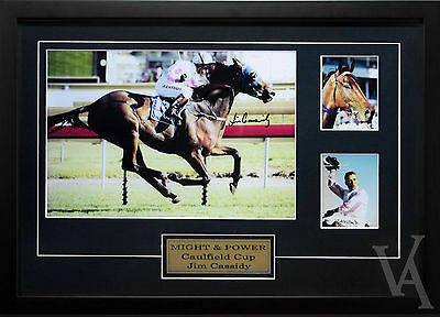 Might & Power Jim Cassidy  Signed And Framed Horse Racing Memorabilia