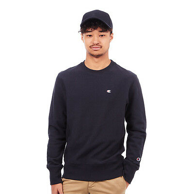 Champion - Basic Reverse Weave Terry Crewneck Sweater Navy Pullover Rundhals