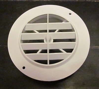 "4"" WHITE Round Rotaire 5 1/2 Face Grille Heat AC Air Duct Outlet Vent 3840WH RV"