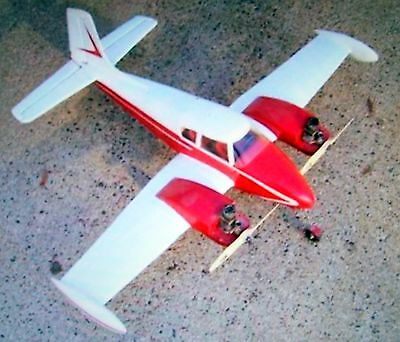 Vintage CESSNA 310A UC Model Airplane PLAN + Construction Article & Scale Data
