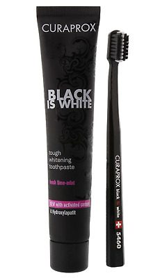 CURAPROX - BLACK IS WHITE Toothpaste - Whitening Charcol Tooth paste 90ml