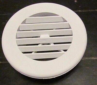 "4"" WHITE Round Rotaire Grille Heat Covered Screws Outlet Vent 3940WH RV Trailer"