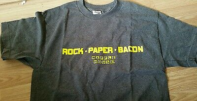 Waffle House T-Shirt~Rock•Paper•Bacon~2XL~XXL~NWOT~NEW~WH~