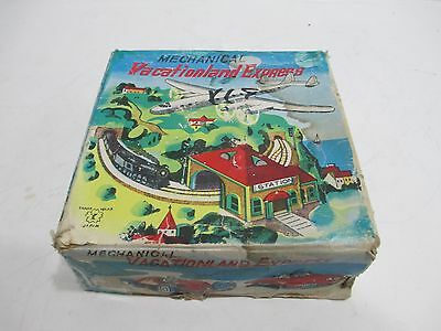 Vacation Land Wind-Up Train And Airplane Mint In Box Made In Japan