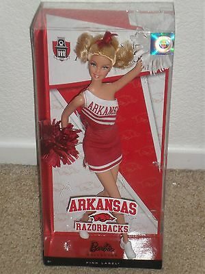 BARBIE COLLECTOR 2012 ARKANSAS RAZORBACKS NEW doll NIB Cheerleader