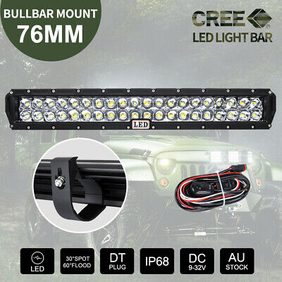 23 inch CREE LED Light Bar 5D Len Spot Flood Offroad 4x4 Work Driving Bars 12V