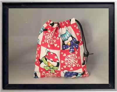 Gymnastics Leotard Grip Bags / Holiday Penguins Gymnast Birthday Goody Bag