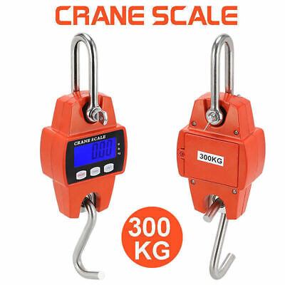 300kg 0.1kg Mini Crane Scale LCD Digital Electronic Hook Hanging Scale AU Stock