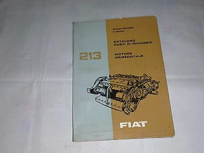 ENGINE Fiat 213    Fiat Parts Catalogues  VI/ 1963 ( 100% italian )