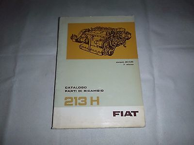 ENGINE Fiat 213 H    Fiat Parts Catalogues   X/ 1964  ( 100% italian )