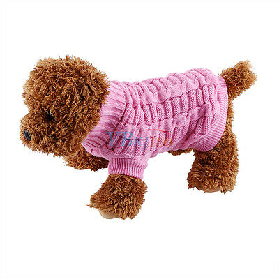 Pet Dog Cat Puppy Soft Winter Warm Knitwear Outdoor Coat Sweater Clothes Jumper