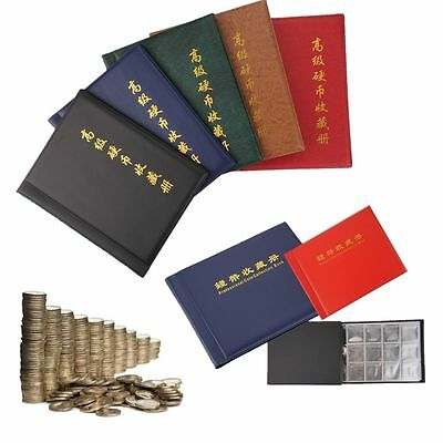 120/250 Coin Album Collection Storage Penny Pocket Book Collecting Coin Holder