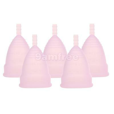 5 Medical Silicone Menstrual Cup Soft Diva Cup Feminine Hygiene Small Pink