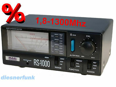 Maas RS-1000 SWR  POWER Meter 1,8-1300 MHz KW CB VHF UHF Allbereichs SWR