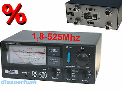MAAS RS-600 SWR & PWR Meter - 1.8 - 160 MHz / 140 - 525 MHz Multibereichs SWR
