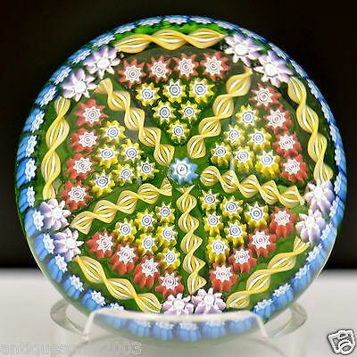 PERTHSHIRE PP5 Millefiori Translucent Ground Art Glass Paperweight SIGNED #1441