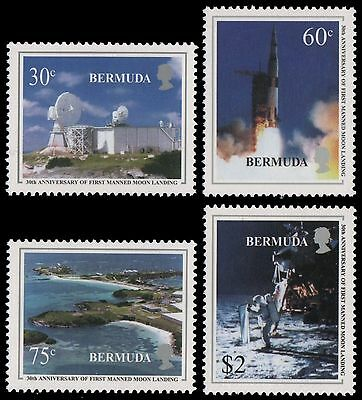Bermuda 1999 First Manned Landing on the Moon MNH