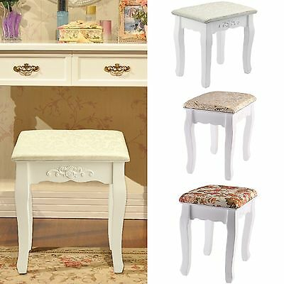 Vintage Dressing Table Stool Soft Padded Piano Chair Rest Makeup Seat Baroque