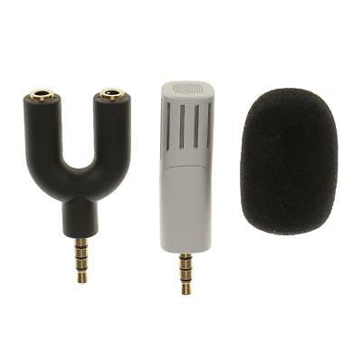 Rotatable Mini Recording Condenser Microphone for Mobile Phone iPad White