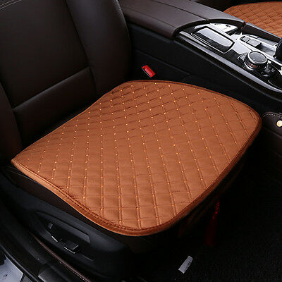 Universal Soft Car Seat Cushion Cover Single/Double For Toyota VW BMW Coffee