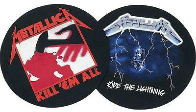 METALLICA DJ SLIPMAT FILZMATTE KILL 'EM ALL RIDE THE LIGHTNING - 2er SET