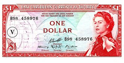 East Caribbean States … P-13o … 1 Dollar … ND(1965) … *UNC*