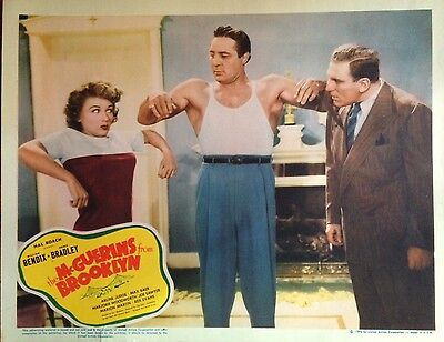 Original 1942 The Mcguerins From Brooklyn Max Baer Lobby Card 11X14