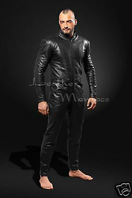 new black leather catsuit suit overall jumpsuit