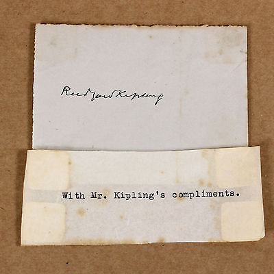 c1900 | Rudyard KIPLING | ORIGINAL signature with compliments | jungle book kim