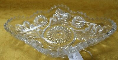 EAPG Beautiful Millersburg Hobstar and Feather Pattern Relish Dish #1