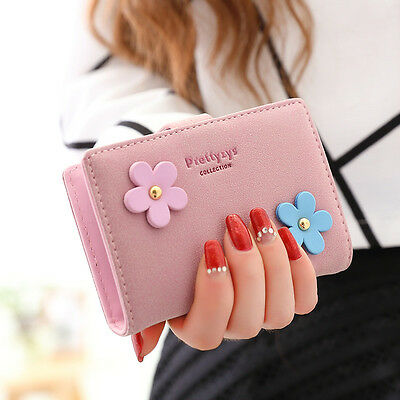 Sweet Girl Women's Synthetic Leather PU Credit Card Bag Flower Mini Card Holders