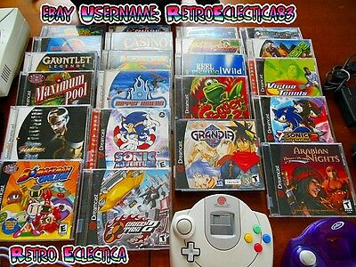 Sega Dreamcast Retro Gaming Lot - Top Games, Console, Controllers, Accessories!