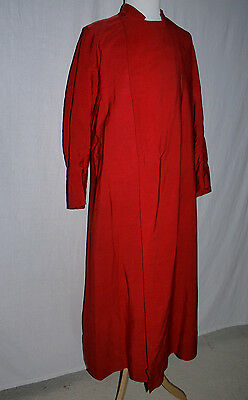30's VINTAGE RED CHORISTERS GOWN CASSOCK ROBE IDEAL FOR PERIOD FATHER CHRISTMAS