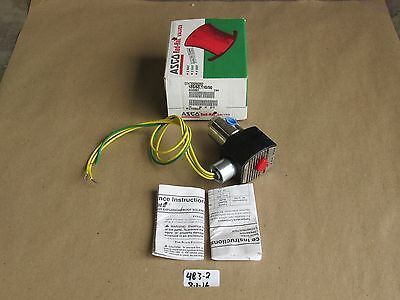 """+New In Box Asco Redhat 1/4"""" 3-Way Solenoid Valve Efht8320G202 Norm. Closed 120V"""