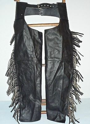 Genuine Leather Riding Chaps Motorcycle or Equine / Horse - Size Small Adult