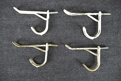 Antique Vintage Wire Hooks Lot of 4 Matching Coat Hooks (D)