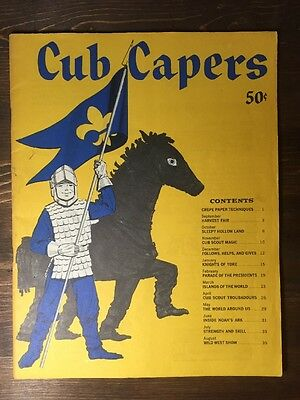 Vintage 1961 Boy Scout Scouting booklet - Cub Capers