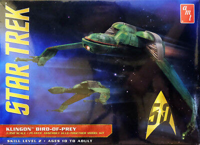 Star Trek Klingon Bird-Of-Prey Raufschiff 1:350 AMT Model Kit Bausatz AMT949