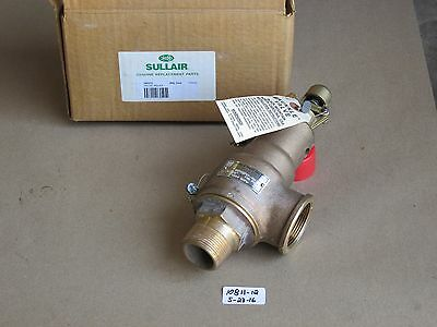 "New In Box Sullair/kunkle 1-1/4"" Threaded Relief Valve 6010Gf01-Km 140Psig Brass"