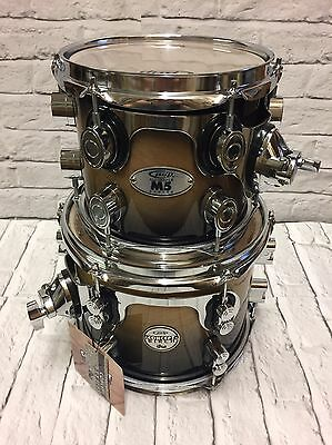 """PDP Concept Series Birch 10"""" x 7"""" & PDP M5 Natural To Black Fade 8"""" x 7"""" Toms"""