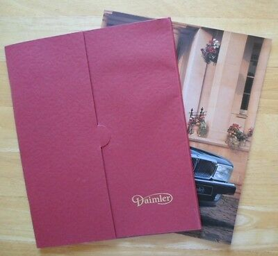 DAIMLER 4.0 & Double Six V12 orig 1993 UK brochures x2 in card portfolio - XJ40