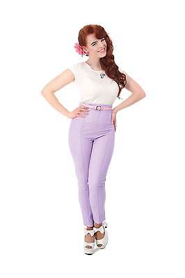 Collectif Vintage Bonnie Glitter Cigarette Trousers