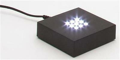 Glass Eye Studio Plastic Square Base LED White Lighted Paperweight Display 986