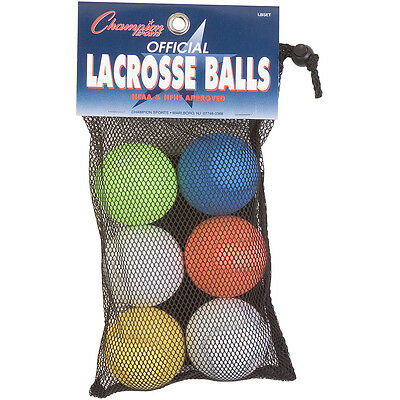 Champion Sports Lacrosse Balls - Pack of 6