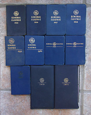 Vintage 1955 To 1971 General Electric Diary Salesman Journals 11 In Total