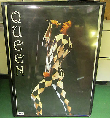 Queen New Poster Mid 2000's Vintage Collectable Freddie Mercury Live England1974