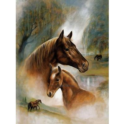 DIY 5D Diamond Painting Horses Embroidery Cross Crafts Stitch Home Decor
